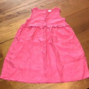 Hanna Andersson Girls Pink Linen Sleeveless Dress